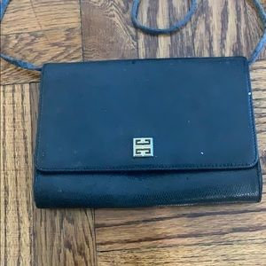 Givenchy Paris small black shoulder bag/ clutch